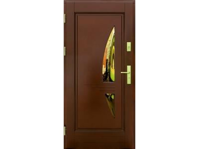 Drzwi ramiakowo-płycinowe nr 17a
