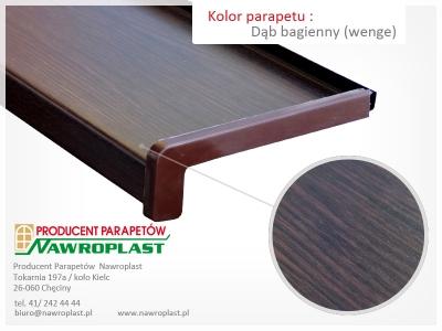 Parapety zewnętrzne stalowe o strukturze drewna