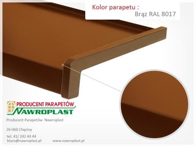Parapety zewnętrzne stalowe w kolorach RAL